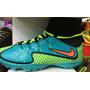 Chuteira Nike Cano Alto Mercurial Azul/verde Super Promoção!