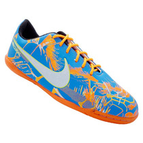 Chuteira Tenis Nk Futebol Futsal Salão. Azul E Laranja