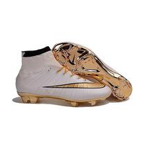 Chuteira Nike Mercurial Superfly Cr7 Gold Fg - Profissional