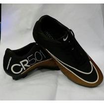 Chuteira Nike Campo Cr 50 Cristiano Ronaldo Cr7 Venom Trava