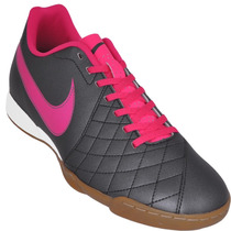 Chuteira Indoor Nike Futsal Flare Ic + Brinde - Grafite Rosa