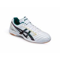 Chuteira Asics Calcetto Fs Pearl White/green Purple - Futsal