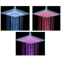 Chuveiro/ducha Led Quadrado Transparente 3 Cores-cromoterapi