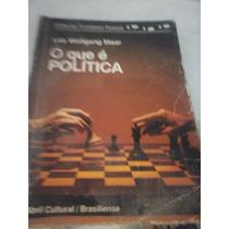 Livro O Que É Política Leo Wolfgang