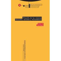Filosofia De Ciencias Naturales Sociales Y M De Estany Anna