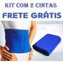 Kit Faixa Cinta Abdominal Neoprene 2 Unidades- Frete Grátis