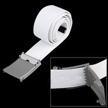 Cinto De Lona Em Canvas Branco E Preto , Lindo , Unissex