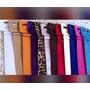 Cinto Feminino Colorido, Varias Cores, Camurça Ou Pu