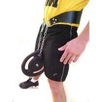 Cinturão Musculação Couro Barra Fixa, Paralela E Agachamento