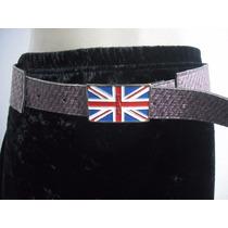 Cinto Fivela Metal Bandeira Inglaterra Bom Estado