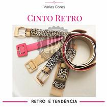 Cinto Feminino Vintage Quadrado Largo Blogueiras Alta Moda