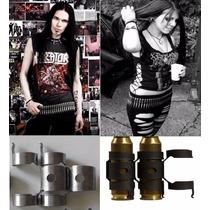 Grampos P/ Cinto Balas Punk Rock Metal Gótico Motociclista