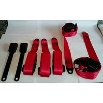 Kit De Cintos De Segurança Para Fusca Vermelho