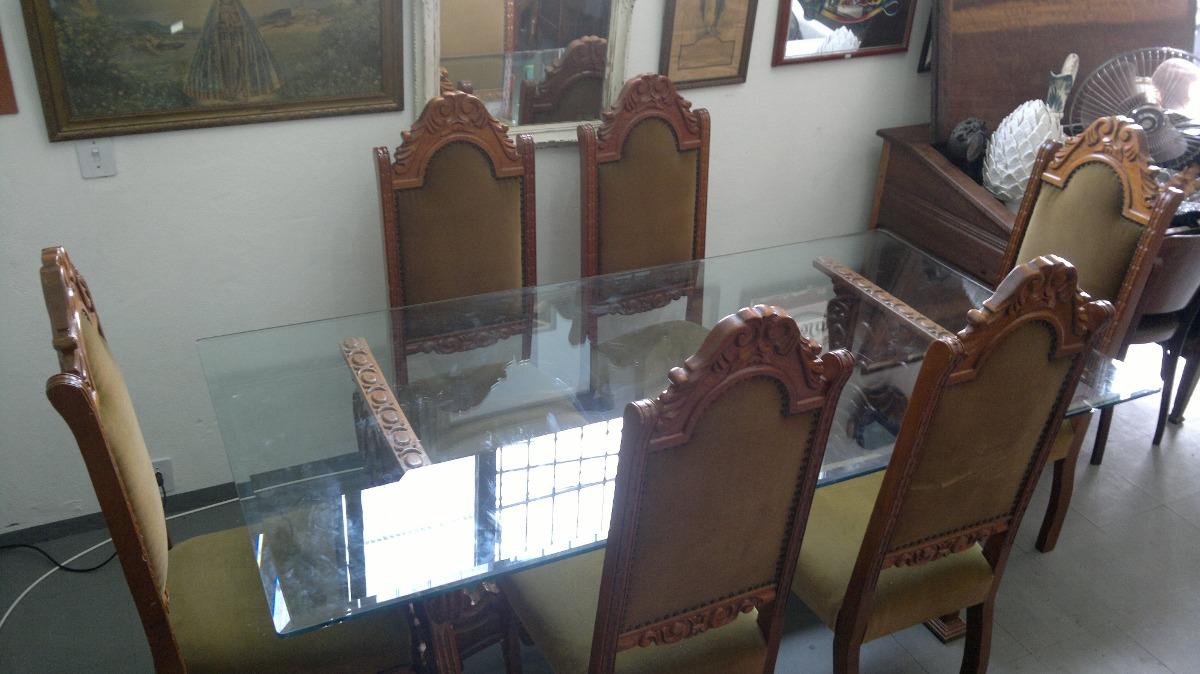 Cj mesa antiga sala jantar escrit rio madeira colonial r - Mesa escritorio colonial ...