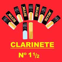 Palhetas Clarinete Riyin Nº 1 1/2 - Caixa Com 10 Unidades