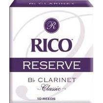 Palheta Para Clarineta Rico Reserve Bb 2.5 Dcr1025 (c/10)