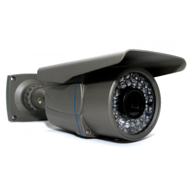 Câmera de segurança infra vermelho bullet com lente varifocal de 2,8 a 12mm + osd + 700 linhas + super had
