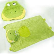 Edredom Bichinho Sapo Plush Enxoval Bebê Manta Cobertor