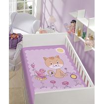 Cobertor Anti Alérgico Jolitex Baby Gatinha Lilás / Rosa