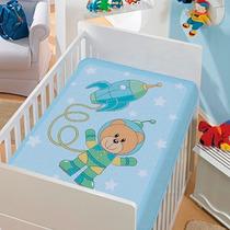Cobertor Jolitex Infantil Berço Bebê Tradicional Astronauta