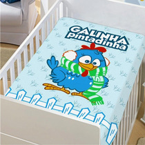 Manta Microfibra Bebê Galinha Pintadinha Jolitex 80cmx1,10cm