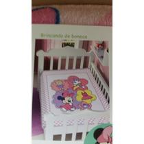 Cobertor Jolitex Disney Minnie Para Bebê Borda Em Crochê