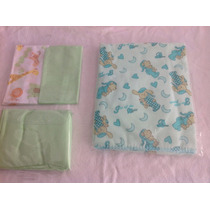 Lote De Enxoval De Bebe Jogo De Lençol E Cobertor Barato D+