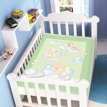 Cobertor Jolitex Infantil Berço Bebê Raschel Nas Nuvens