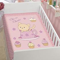 Cobertor P/ Bebê Anti-alérgico Jolitex Rosa Chat Au Chocolat