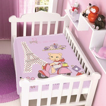 Cobertor Jolitex Infantil Berço Bebê Raschel Tres Chic