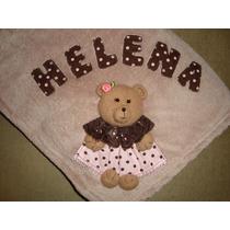 Cobertor, Manta, Bebê, Infantil Personalizado C/ Nome Microf