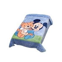 Cobertor Infantil Disney Mickey Baby Boy Azul Jolitex