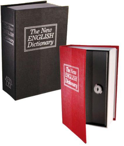 Cofre Camuflado Em Formato De Livro Dicionário Com Chave
