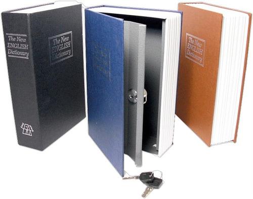 Cofre Forma De Livro Dicionario Com Chaves Joias Dinheiro