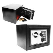 Cofre Digital Eletrônico C/ Chave Aço 23x17cm Western Cfr-01