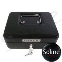 Cofre Metal Cash Box Preto Com Chave Ss-320a