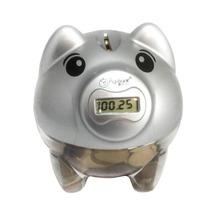 Porco Pig Ban Porquinho Cofre Digital Conta Moedas Presente
