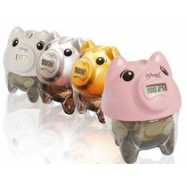 Cofre Digital Porco Contador De Moedas - Pig Bank Visor Lcd!