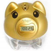 Cofre Pig Bank Porquinho Digital Conta Moedas Com Visor Lcd