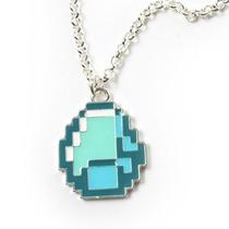 Colar Pedra Diamante Diamond Gem - Minecraft - Novo