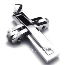 Colar Masculino Crucifixo Aço Inoxidável + Brinde Corrente
