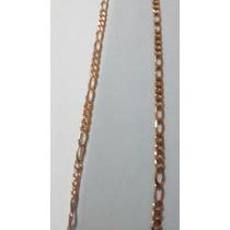 Cordão Folheado Da Rommanel Com 50cms, Malha 4x1.