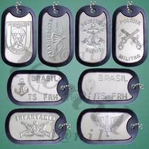 Dog Tag Placa Identificação Militar Gravação De Dados Grátis