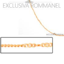 Rommanel Corrente Grumet 50cm Cordao Folh Ouro 18k 530695