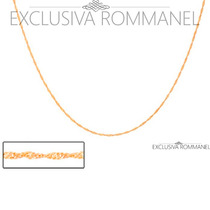 Rommanel Corrente Gargantilha Cordao 40 Folheado Ouro 531097