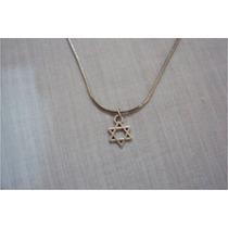 Estrela De Davi - Pingente - Cordão - Colar - (frete Grátis)
