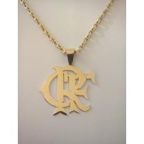 Cordão Modelo Cartier Cadeado + Medalha Crf Em Ouro 18k 750