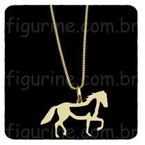 Colar De Cavalo Em Prata 925 Banhado A Ouro 18 K
