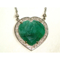 Pocao2005-colar Ouro 18k Diamantes E Esmeralda Frete Gratis