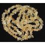 Cascalho Citrino Natural Amarelo Fio 90cm Teostone Colar 349